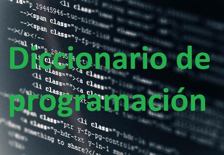 glosario palabras lenguajes de programacion