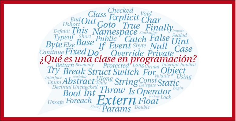 que es una clase en programacion orientada a objetos